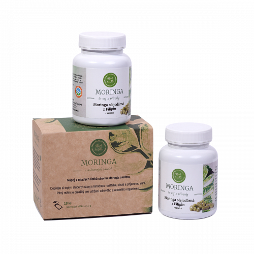 Moringa for fast and sustainable weight loss, 2x capsules (180pcs) and bagged tea (18pcs)