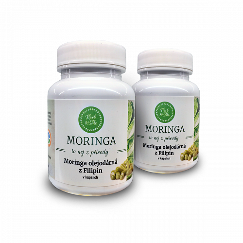 Cure for 2 months - 2x VEG moringa capsules (180pcs in total)