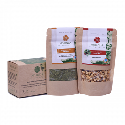 Moringa for future mothers, Moringa lemon balm 30g, Strawberry delight 50g and Teabag (18pcs)