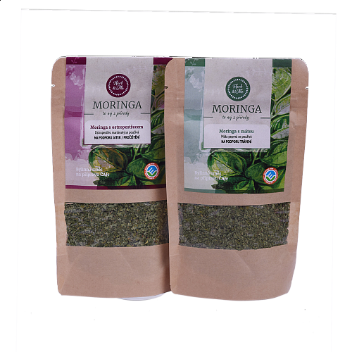 CLEAN LIVER AND INTESTINE - Moringa with spearmint and milk thistle 2x30g