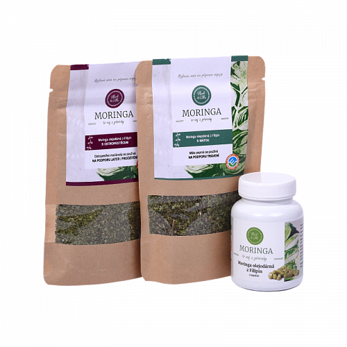 IMMUNITY - milk thistle 30g, spearmint 30g and moringa capsules (90pcs)